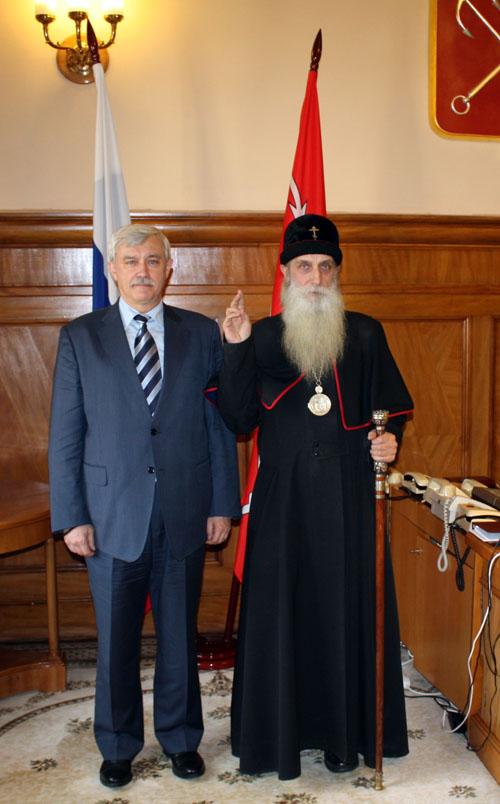 С губернатором Санкт-Петербурга Георгием Полтавченко
