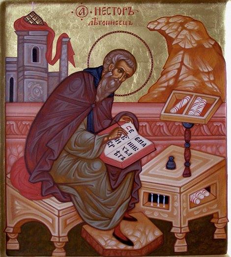 Преподобный Нестор Летописец, инок Киево-Печерской Лавры