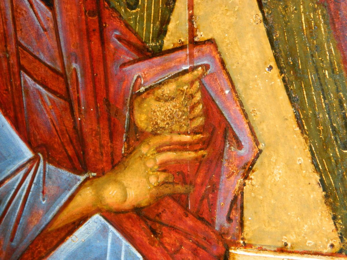 Фрагмент. Десница левого ангела. Фото автора