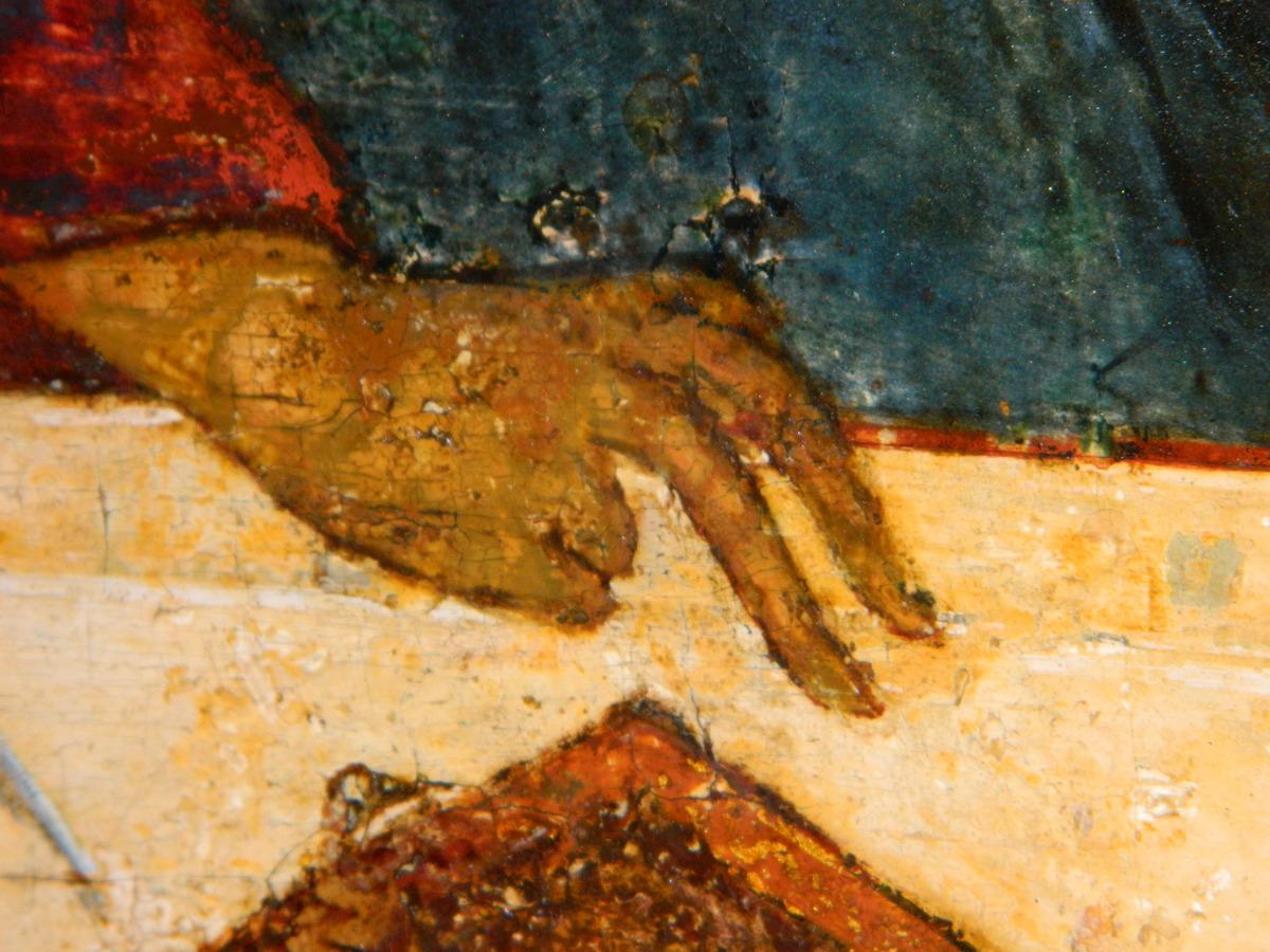 Фрагмент. Десница среднего ангела. Фото автора