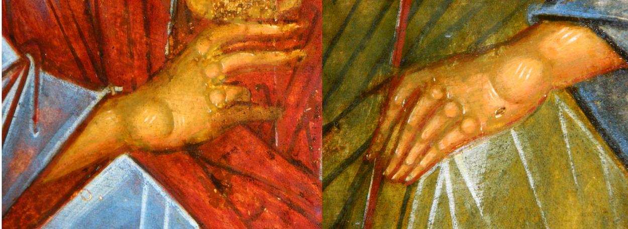 Фрагмент. Левая рука третьего ангела. Фото автора
