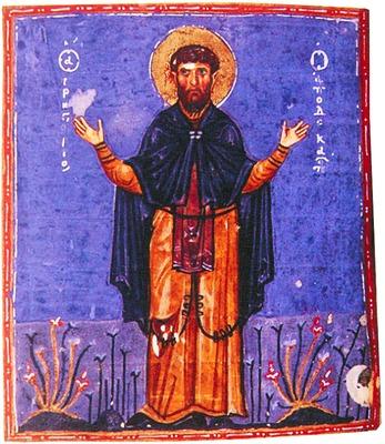 Икона преподобного Григория Декаполита, в честь него был наречен будущий святитель Герман