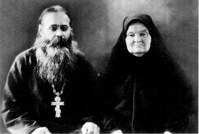Протоиерей Иоанн Гаврилович Кудрин с супругой