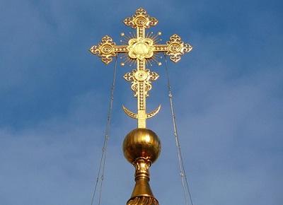 Крест на новообрядческом храме