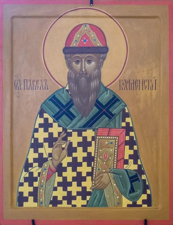 Священномученик и исповедник епископ Павел Коломенский. Икона в соборе Рождества Христова на Рогожском кладбище в г. Москве