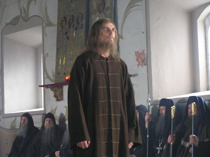 Протопоп Аввакум (актер Александр Коротков) на съемках фильма
