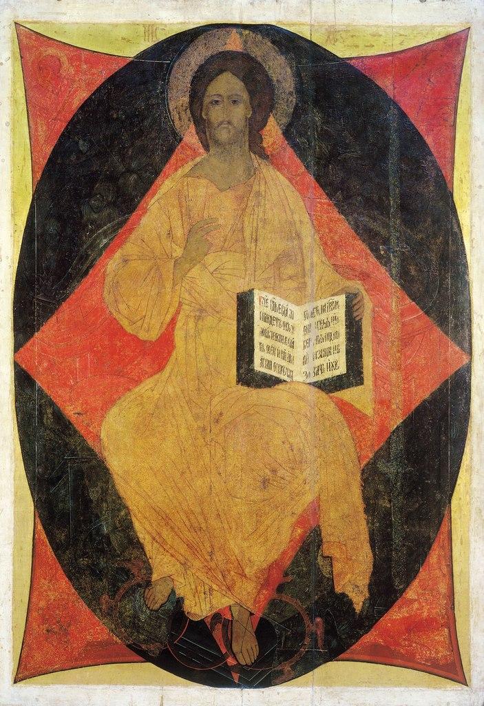 Спас Вседержитель. Андрей Рублев. Иконостас Успенского собора во Владимире (1408 г.)