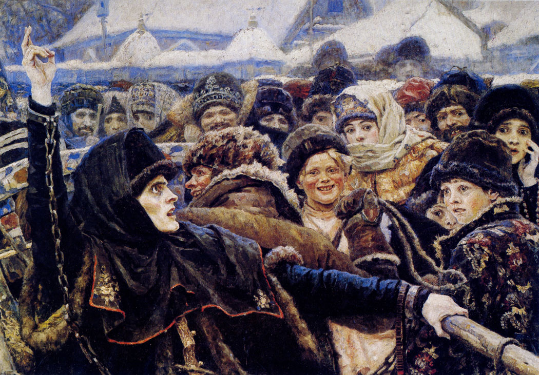 В.И. Суриков. Фрагмент картины «Боярыня Морозова»