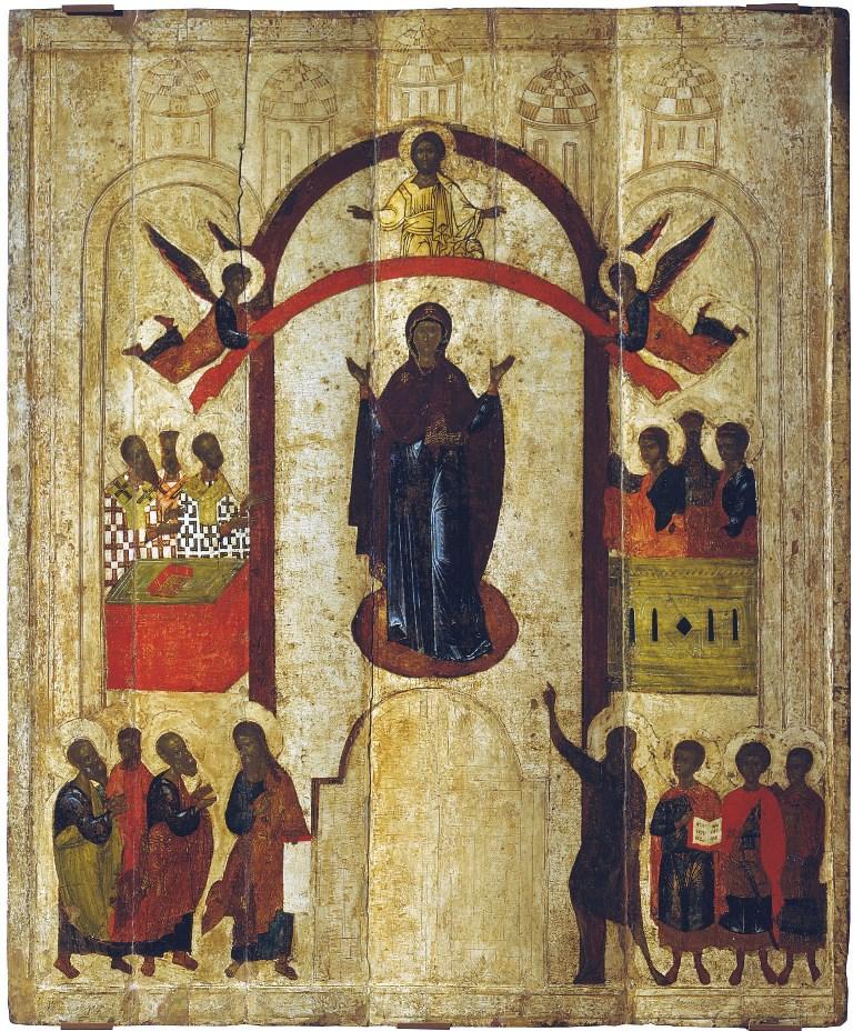 Покров Пресвятой Богородицы. Около 1399 г. Новгород