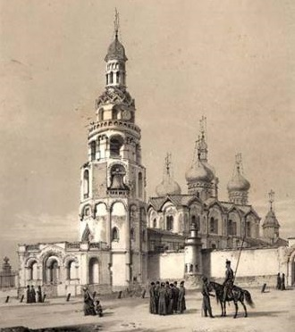 Благовещенский собор Казанского кремля в 1839 г. Литография А. Дюрана