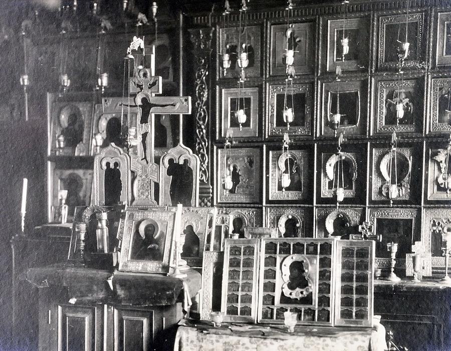 Моленная в особняке Е.Е. Егорова. Фотография 1917 года НИОР РГБ Ф.98/2 №82. Папка с фотографиями моленной