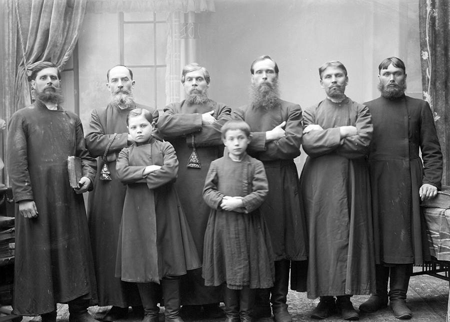 Группа старообрядцев — поморцев. г. Нижний Новгород