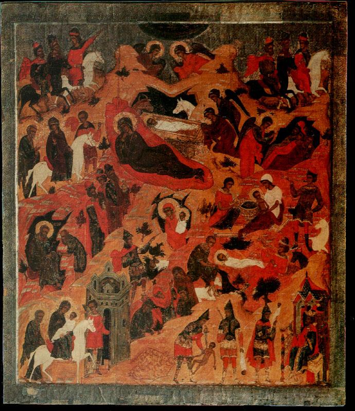 Икона Рожества Христова. XVI век. Каргополь