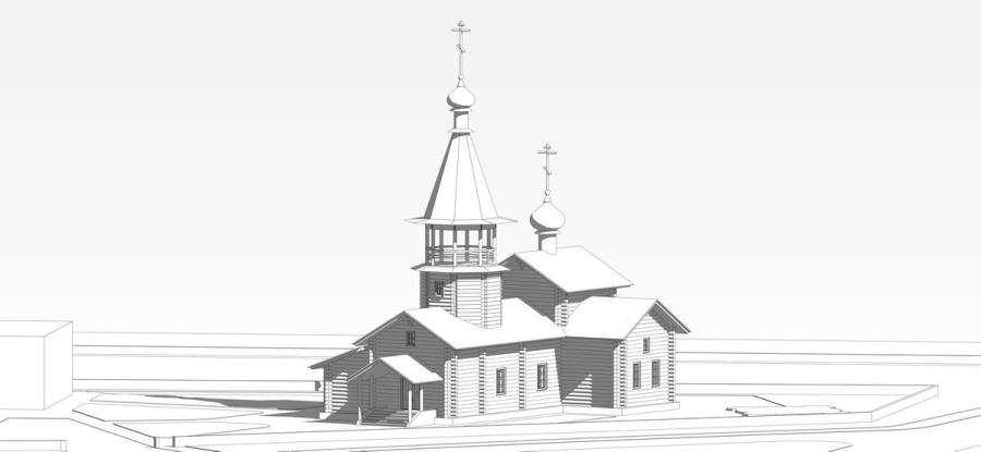 Проект храма в Людиново