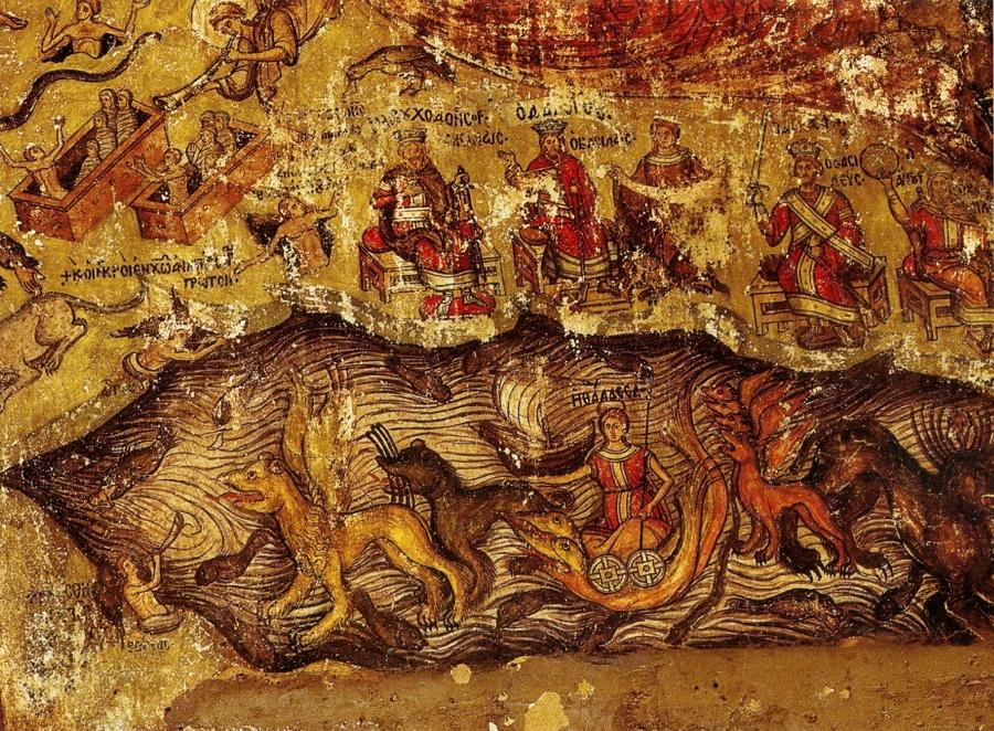 Страшный суд; Византия; XVI в.; местонахождение: Египет. Синай, монастырь св. Екатерины