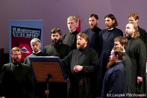 Выступление хора старообрядческих приходов Сибири под управлением А. Н. Емельянова на фестивале духовной музыки в Польше в 2009 году