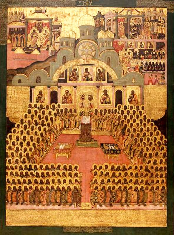 Седьмой Вселенский собор. Икона XVII в.