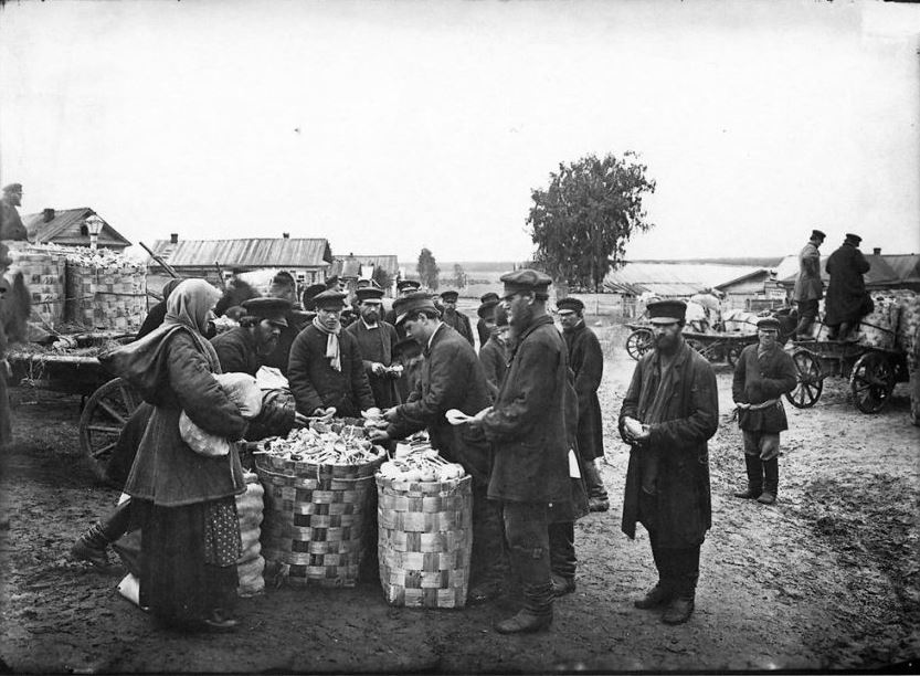 Ложкарный базар в городе Семенове, 1897 год