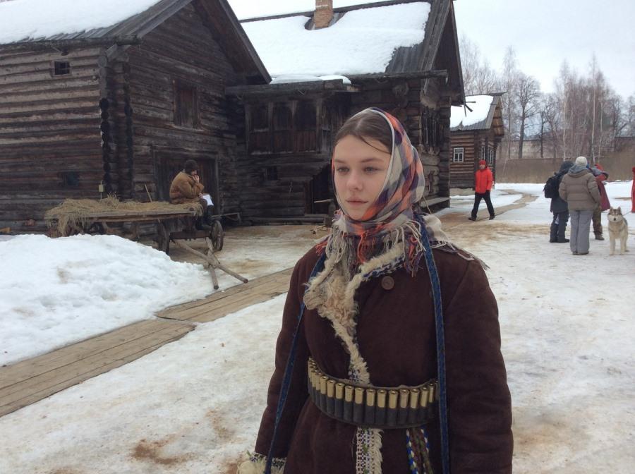 Актриса Александра Лупашко на съемках фильма «Вера». Фото Глеба Чистякова