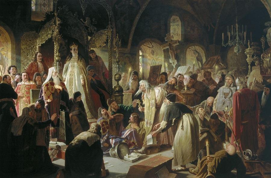 Картина В. Г. Перова «Никита Пустосвят. Спор о вере»
