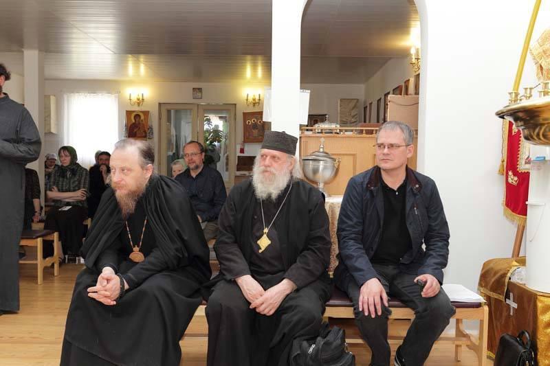 На IV Мятлевских чтениях. Слева — епископ Григорий (Лурье)