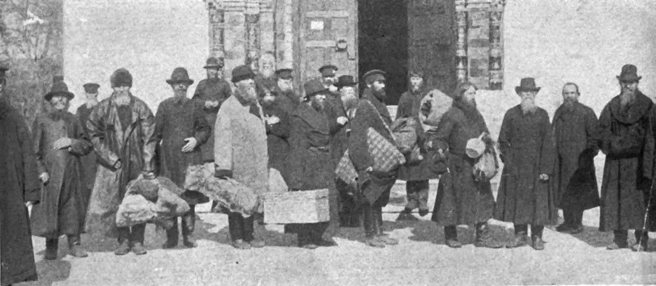 Старообрядцы-сибиряки, прибывшие в Москву на Первый Всероссийский Собор поморцев в 1909 г.