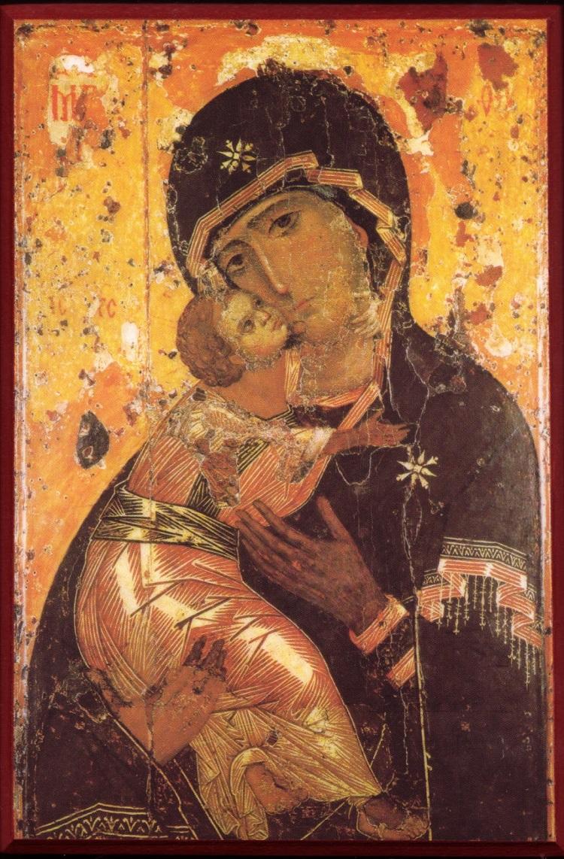 Образ Божией Матери Владимирской. Константинополь. Первая треть XII века