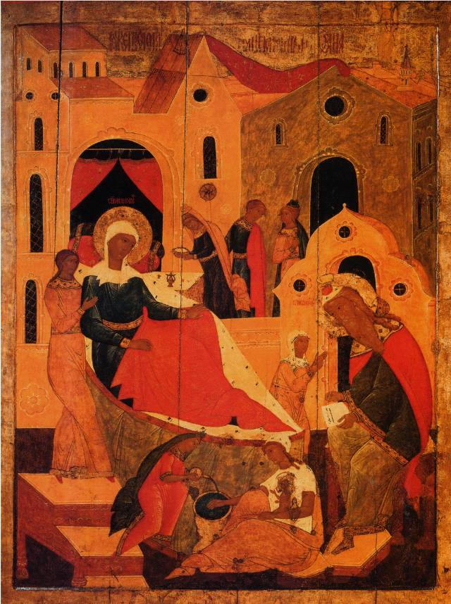 Икона рожества Иоанна Предотечи. Семен Хромой, Строгановские письма, 1616 г.