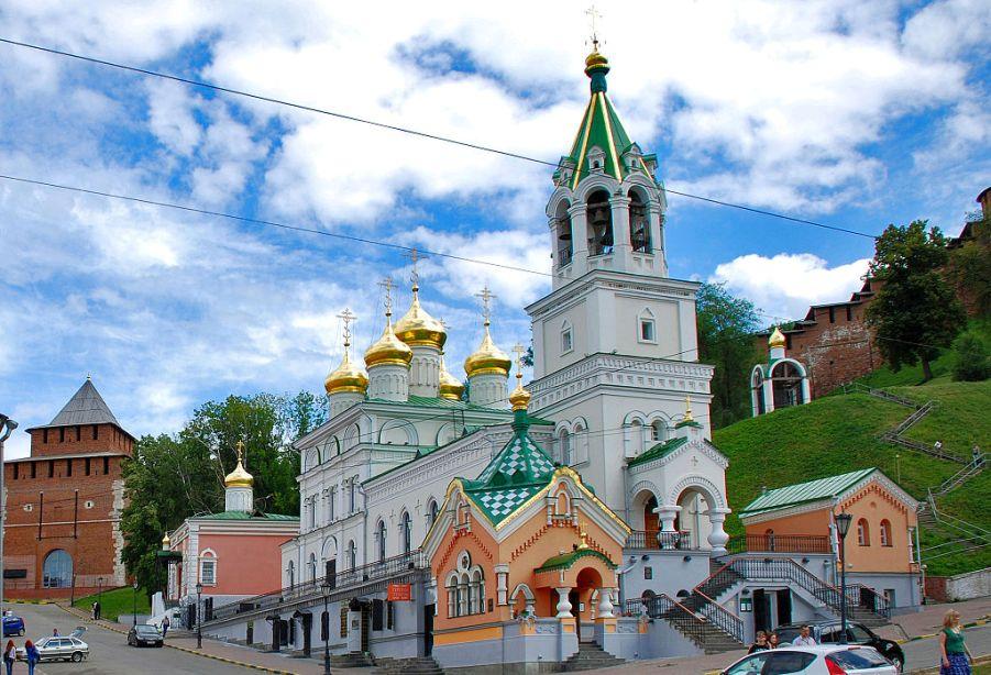 Церковь Иоанна Предотечи на Торгу, Нижний Новгород. Построена в 1683 году на месте древней деревянной