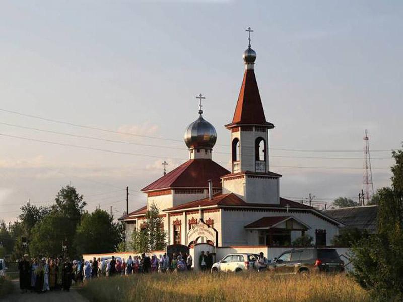 Храм РПсЦ во имя рожества Иоанна Предотечи в пос. Шамары Свердловской области