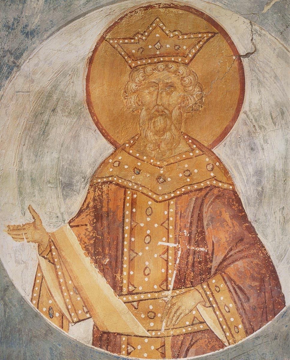 Святой равноапостольный князь Владимир. Фреска. Ферапонтов монастырь, 1502 год