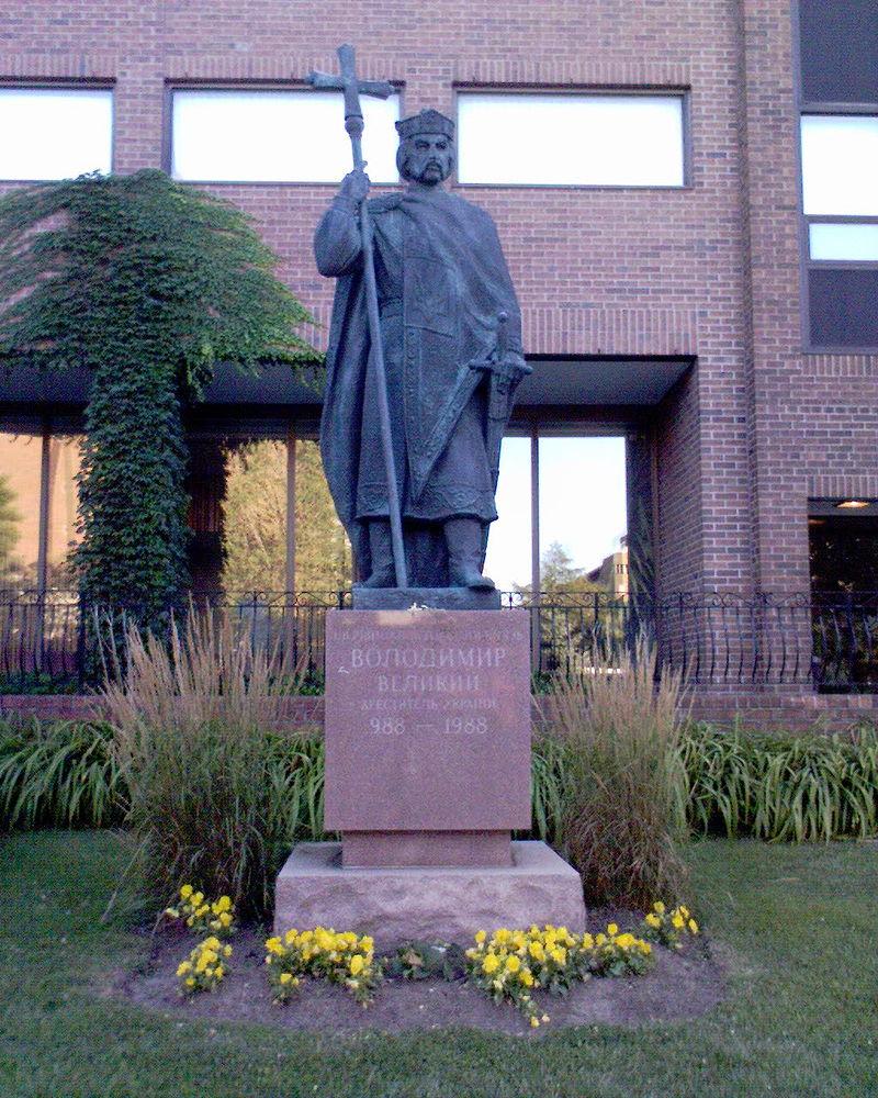 Памятник Владимиру Великому в Торонто (Канада). Установлен в 2006 году