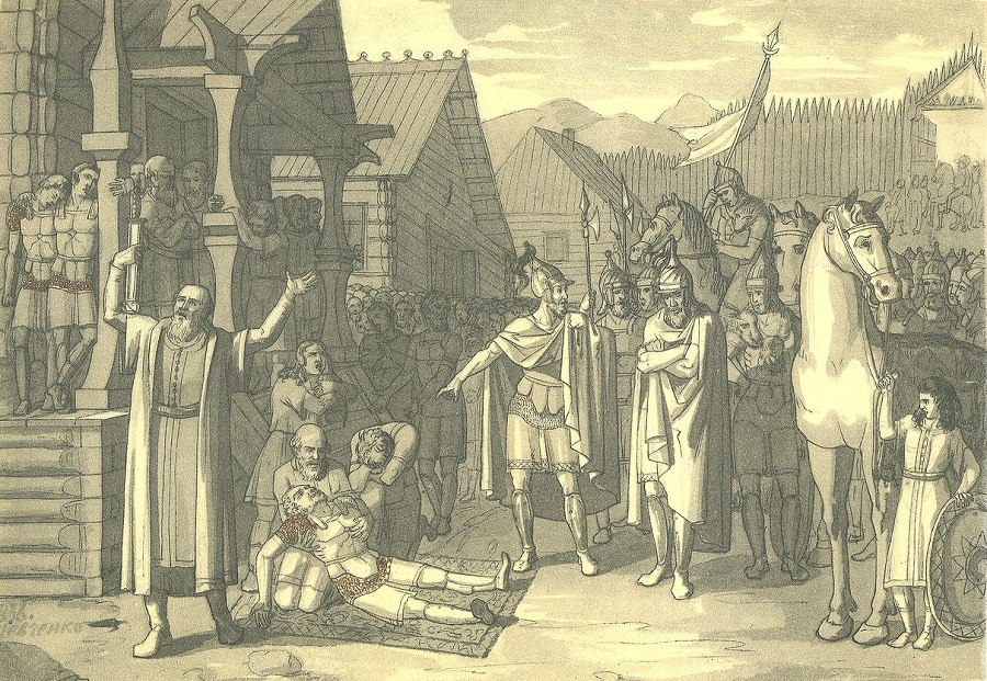Смерть Олега, князя древлянского. Т.Г. Шевченко, 1836 год