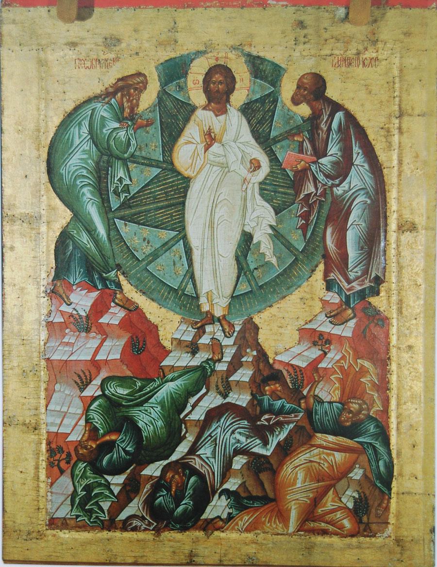 Икона Преображения Господня. Кирилло-Белозерский монастырь. XV в.