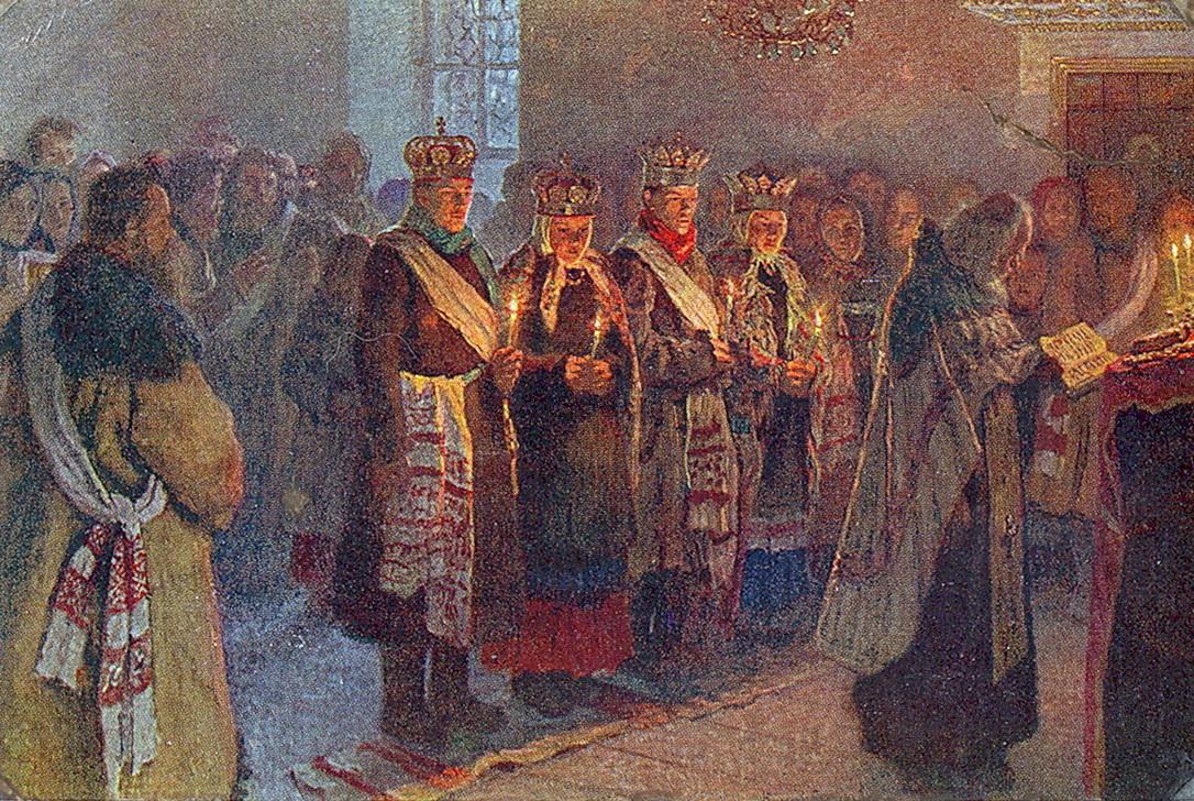 Н.П. Богданов-Бельский. «Венчание». 1904 г.