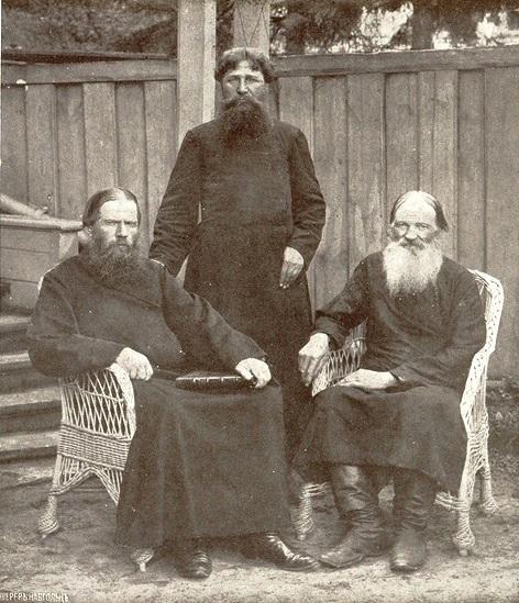 Выдающиеся деятели поморской Церкви (слева направо) Л. Ф. Пичугин, Т. А. Худошин, И. И. Зыков