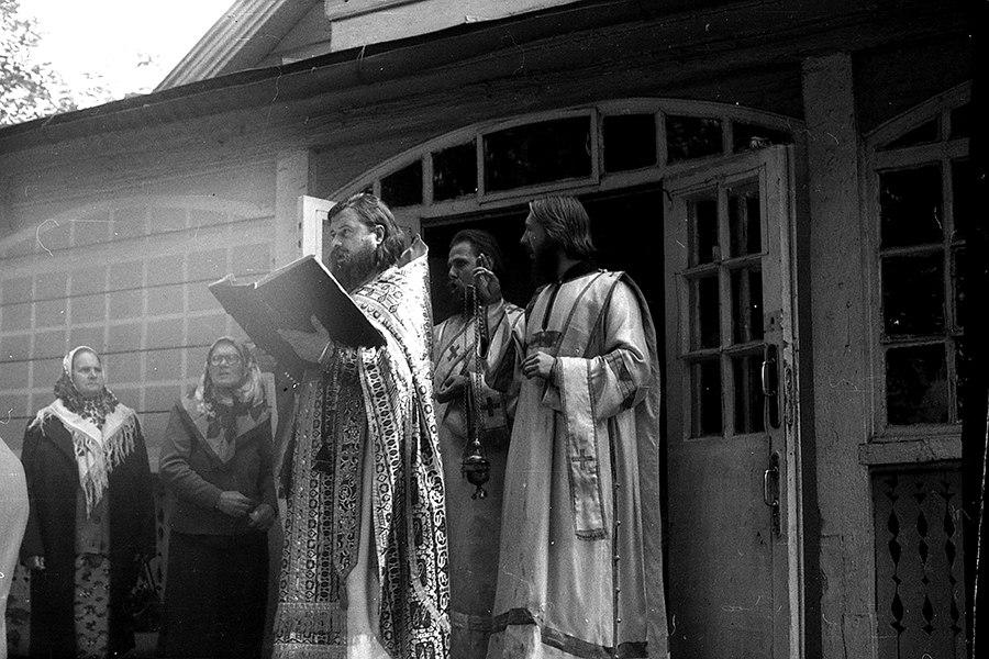 Престольный праздник в храме в честь святаго славного пророка Илии Фезвитянина. 2 августа 1984 год, г. Гомель