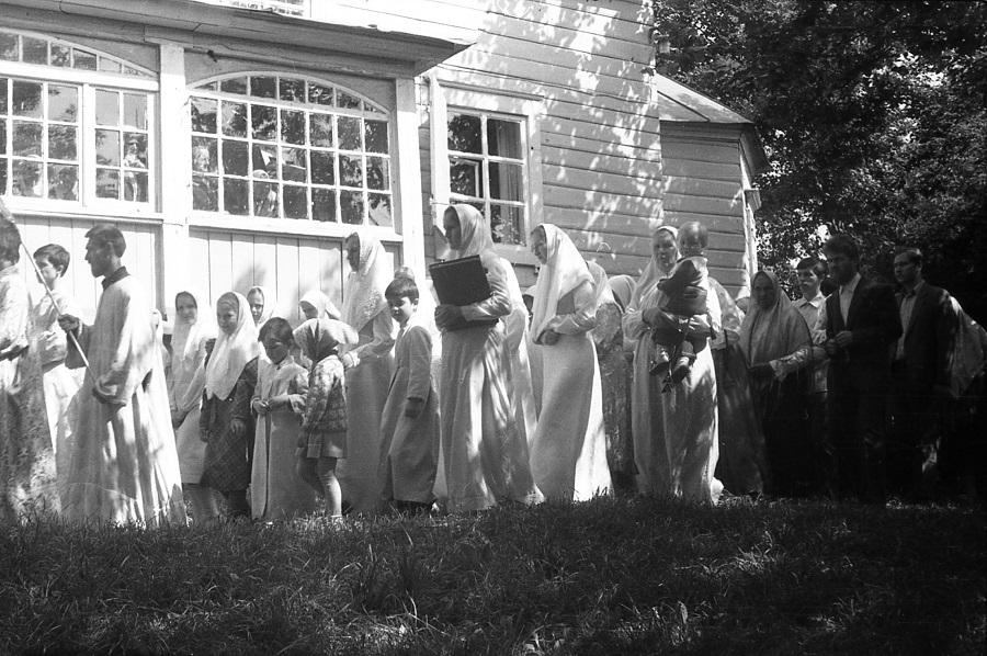 Престольный праздник в храме в честь святаго славного пророка Илии Фезвитянина. 2 августа 1984 года, г. Гомель