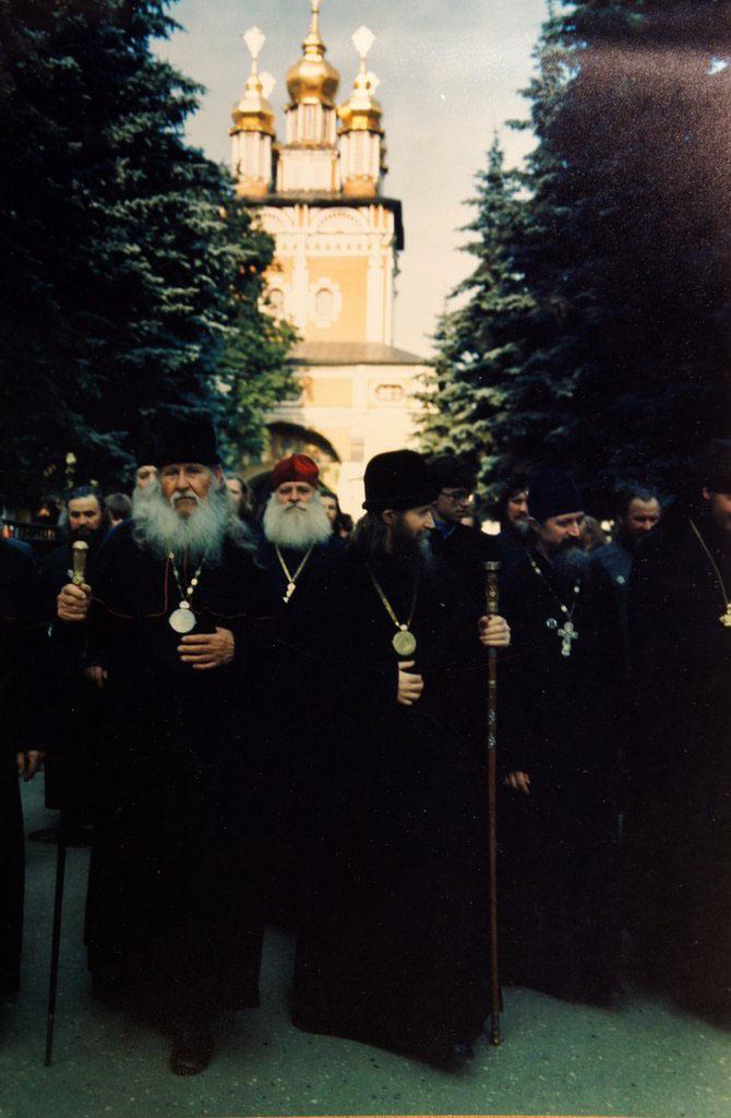Старообрядческое духовенство в Троице-Сергиевой Лавре. 1988 год