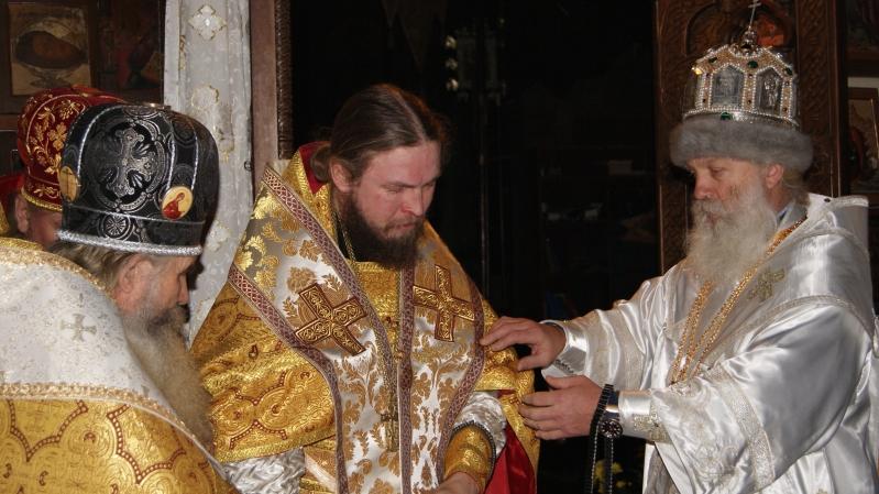 Возведение епископа Сибирского Сергия в достоинство митрополита