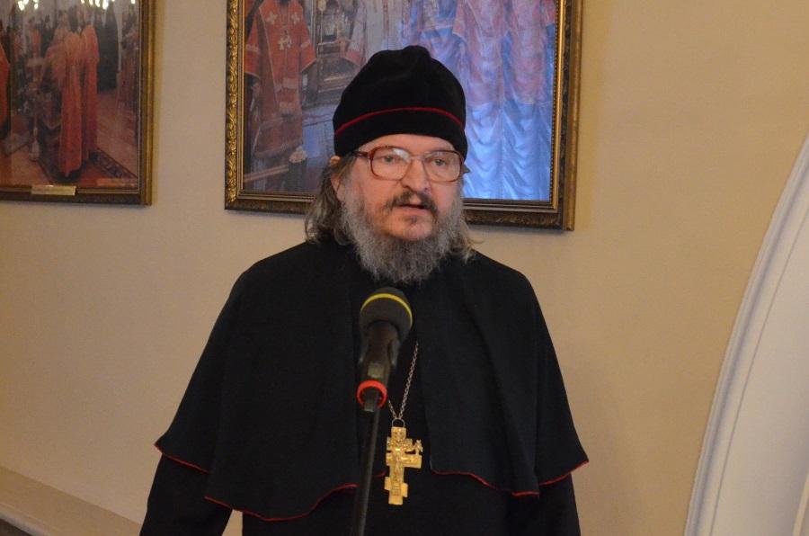 Игумен Кирилл (Сахаров) на XIV Международных Рождественских образовательных чтениях. Январь 2016 года