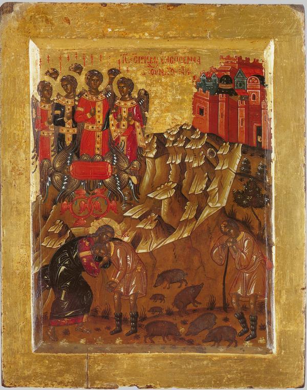Притча о блудном сыне. Икона XVI века, Греция, Афон