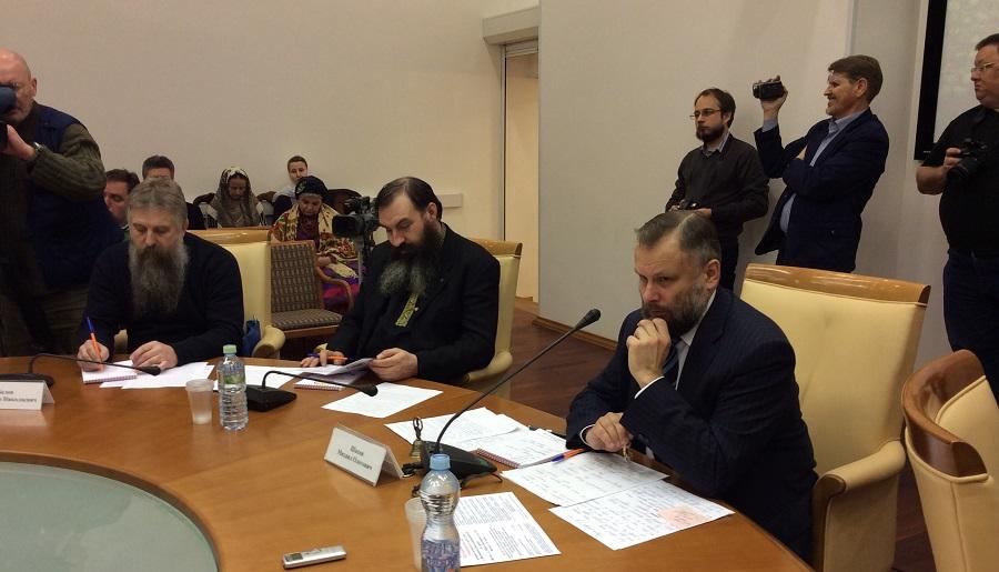 М.О. Шахов (крайний справа) на Круглом столе. 3 марта 2016 года