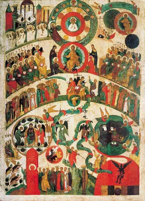 Икона Страшный суд. Новгород, первая половина XV в. Государственная Третьяковская галерея