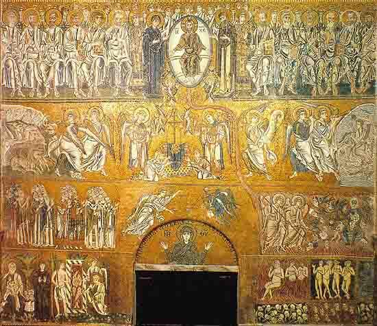 Страшный суд. Византийская мозаика, Торчелло, Северная Италия. XI и XII вв.