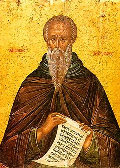 Икона преподобного Иоанна Лествичника. Греция