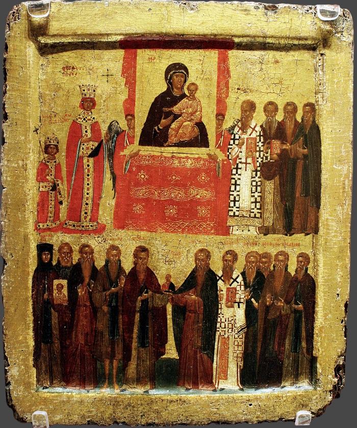 Икона «Торжество Православия». Византия, Константинополь, 14 в.
