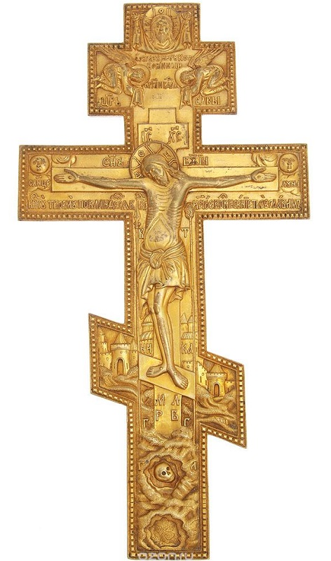 Литой Крест. Бронза, XIX в.