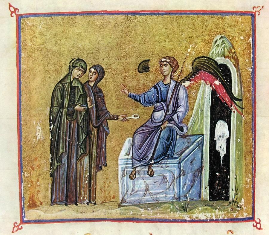 Кадильница на византийской миниатюре XII века