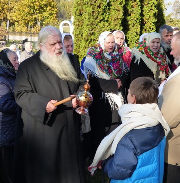 О. Александр Максимович Кудряшов, наставник Рокишского храма ДПЦ Литвы во время торжественного молебна
